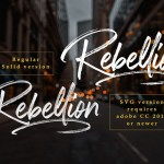 Rockville Brush Font