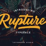 Rupture Bold Script Font