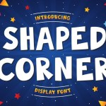 Shaped Corner Display Font