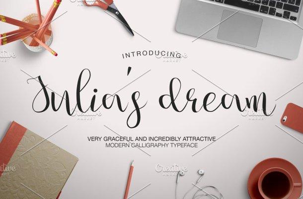 Julia's Dream script Font
