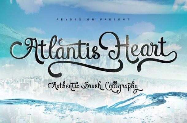 Atlantis Heart Font