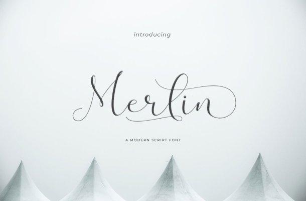 Merlin Script Font