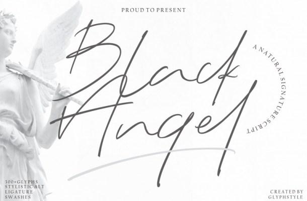Black Angel – Signature Font