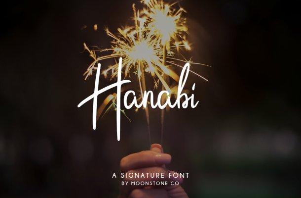 Hanabi Script Font