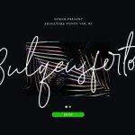 Bulqeusfertom – Signature Font