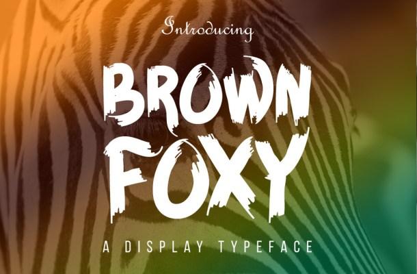 Brown Foxy Font