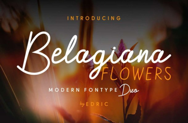 Belagiana Flowers Script Font