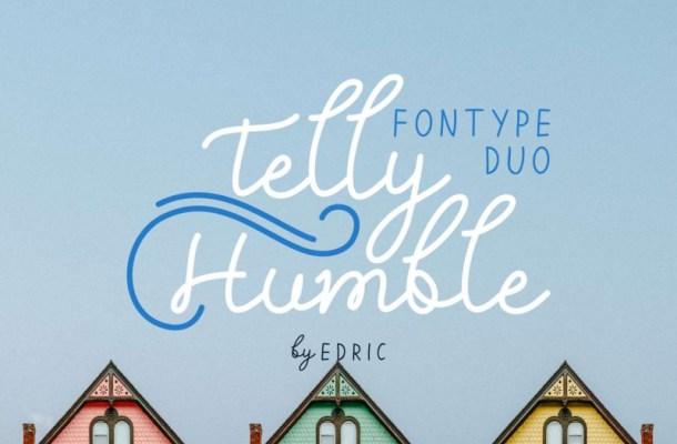 Telly Humble Script Font