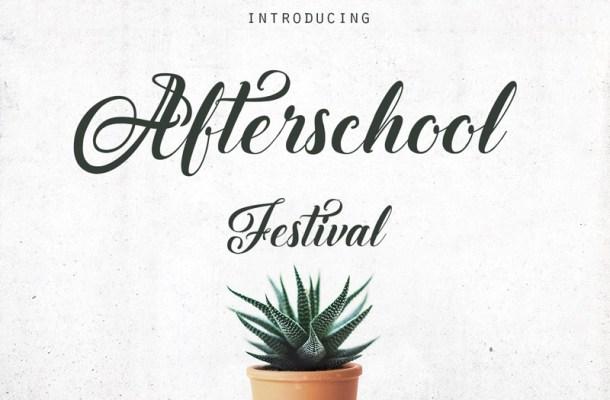Afterschool Festival Font