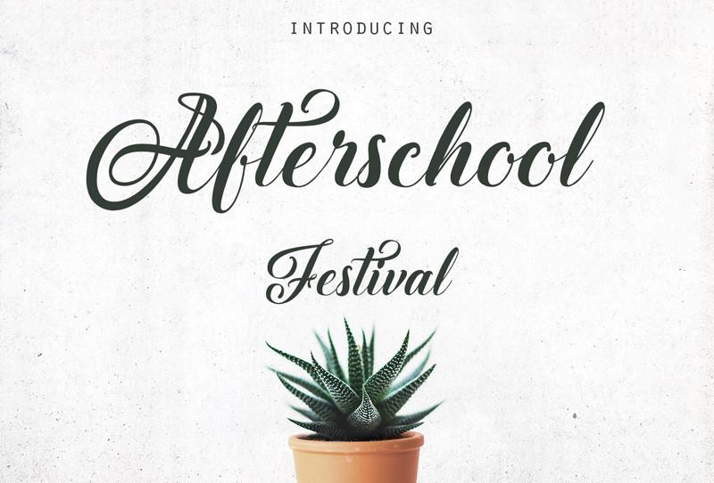 Afterschool-Festival-Font