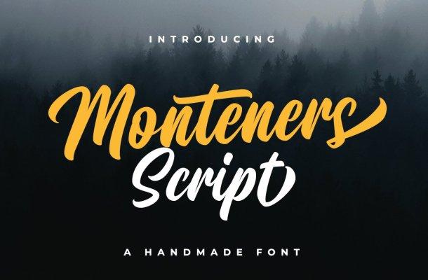 Monteners Script Font