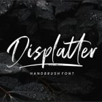 Displatter Handbrush Font