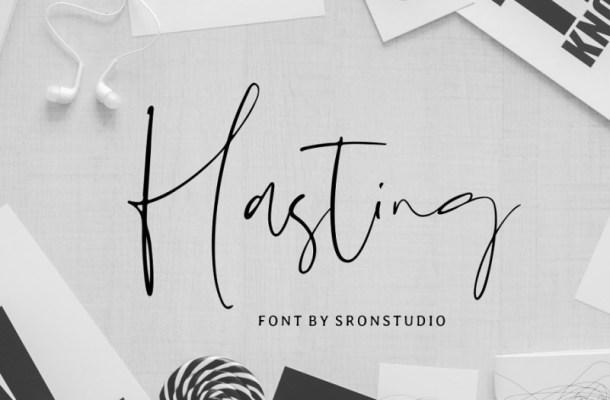 Hasting Script Font