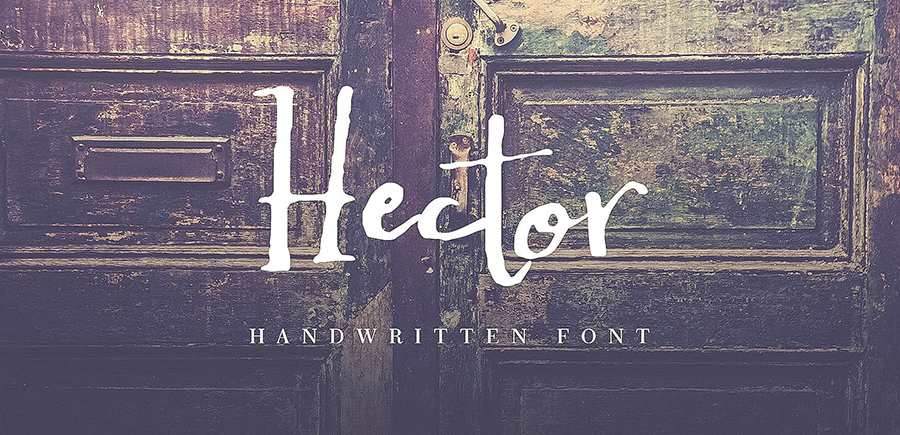 hector-handwritten-font