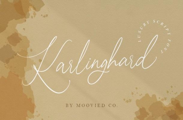 Karlinghard Signature Font