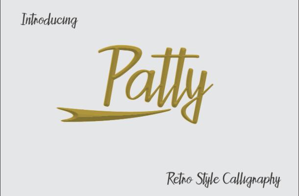 Patty Script Font