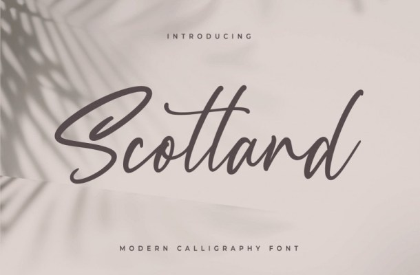 Scotland Calligraphy Font