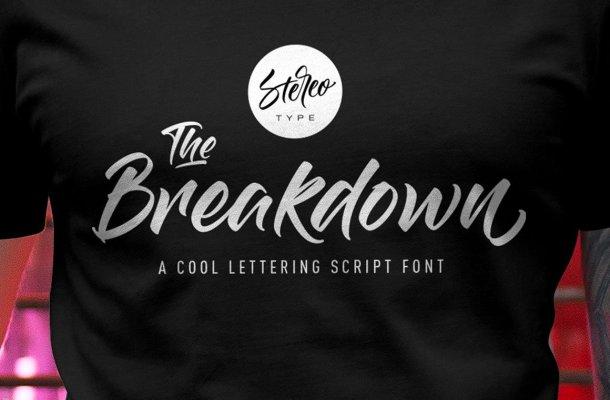 The Breakdown Script Font