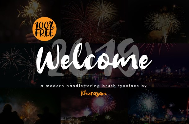 Welcome 2019 Brush Font