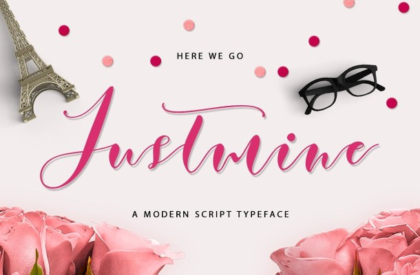 Justmine Script Font