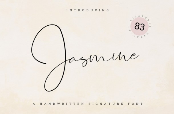 Jasmine Signature Font