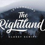 Rightland – Modern Bold Script