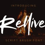 Rellive Brush Font