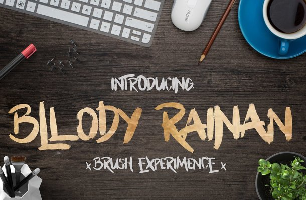 Bllody Rainan Brush Font