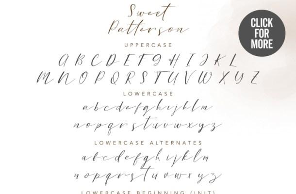Sweet Patterson Script Font