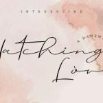Hatching love Handwritting Font