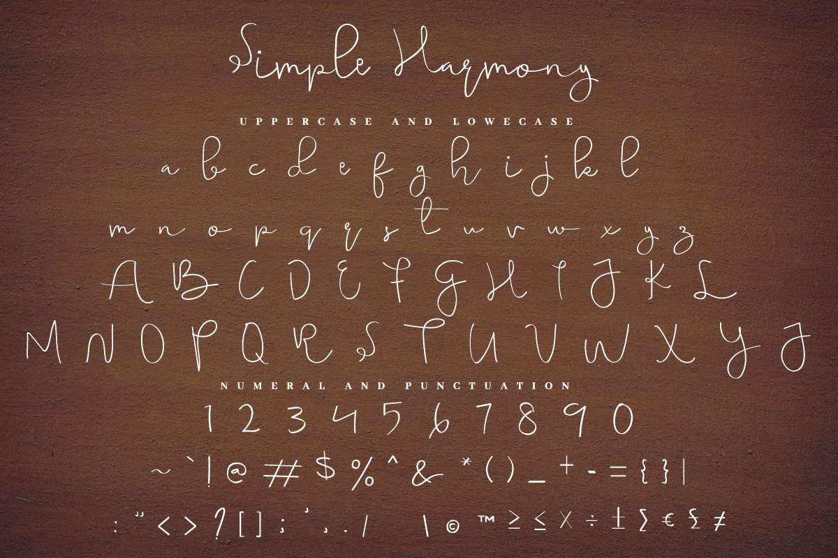 Simple-Harmony-Font-3