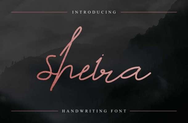 Sheira Signature Font