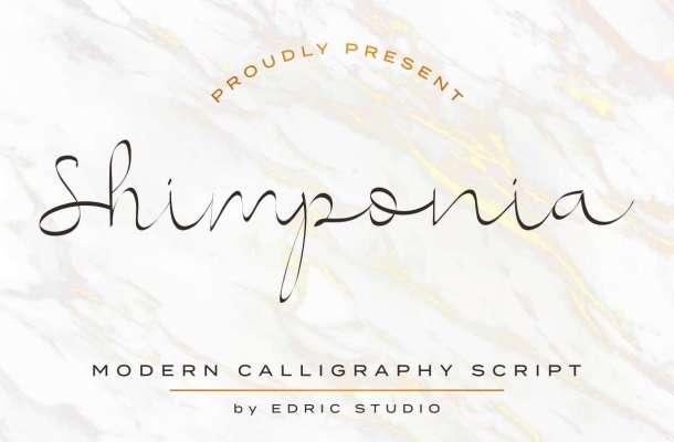 Shimponia Calligraphy Font