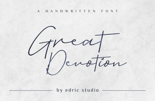 Great Devotion Handwritting Font