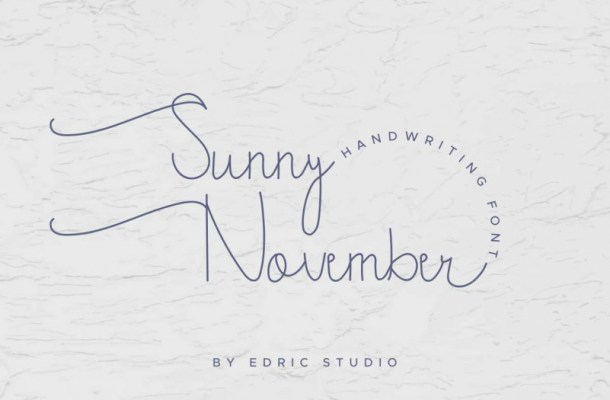 Sunny November Handwritting Font