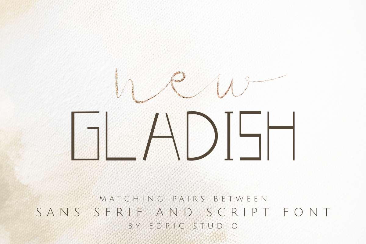 New-Gladish-Font