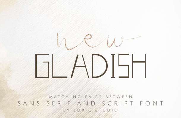New Gladish Font Duo