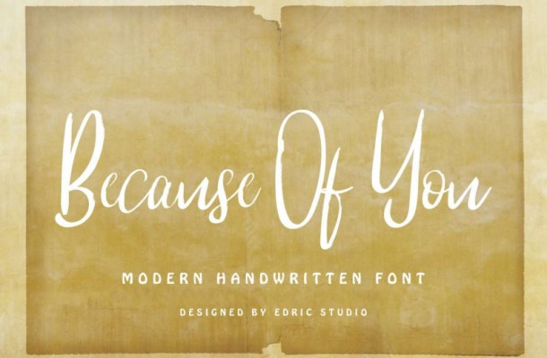 Because Of You Handwritting Font