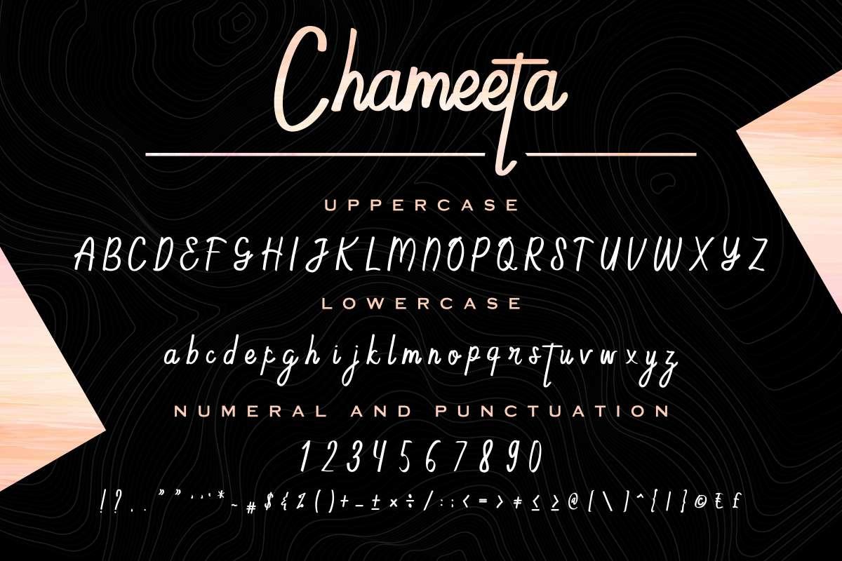 Chameeta- Font-3