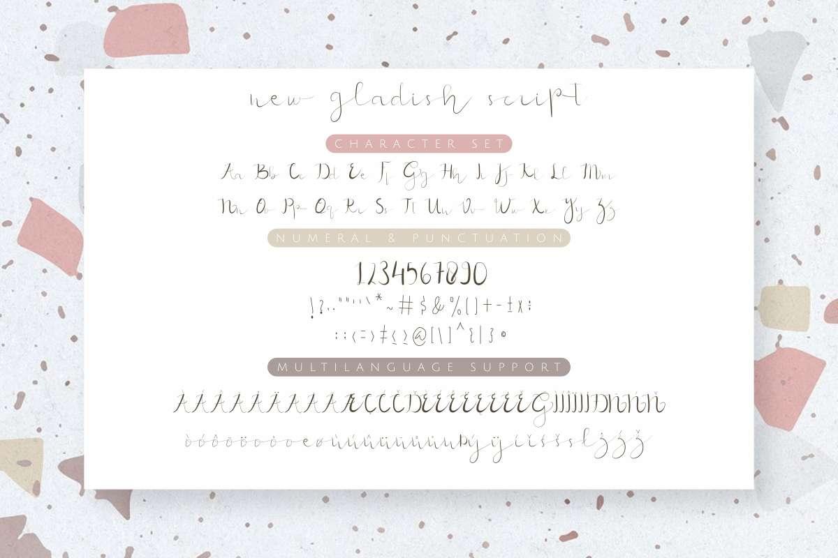 New-Gladish-Font-3