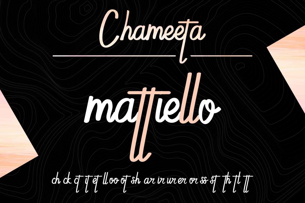 Chameeta- Font-2