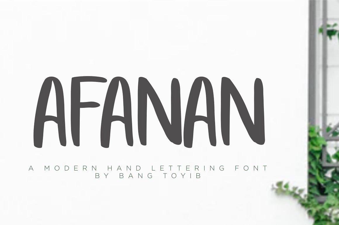afanan-brush-font