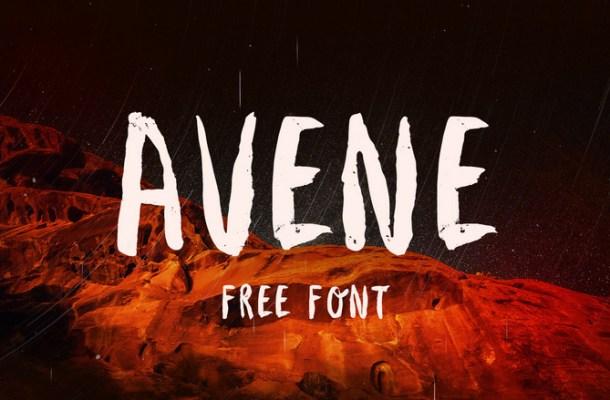 Avene Brush Font