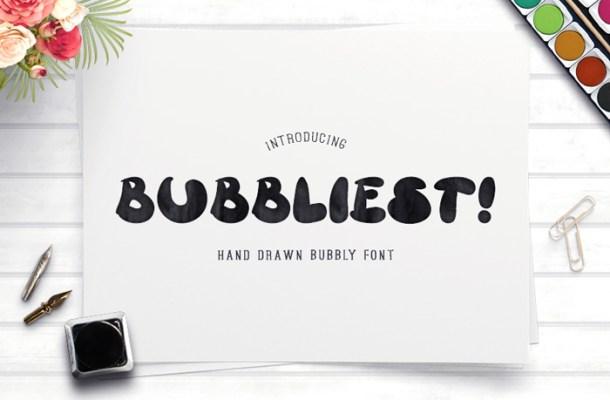 Bubbliest Font