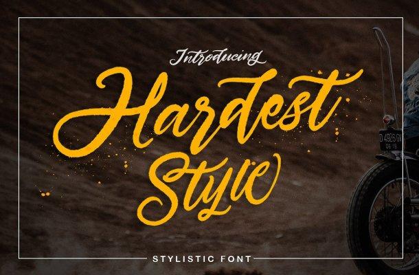 Hardest Stylistic Font