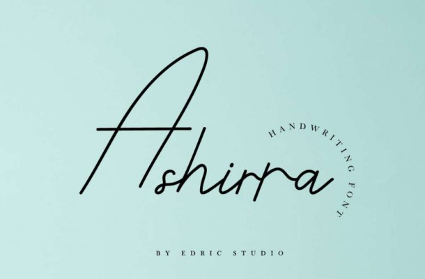 Ashirra Handwriting Font