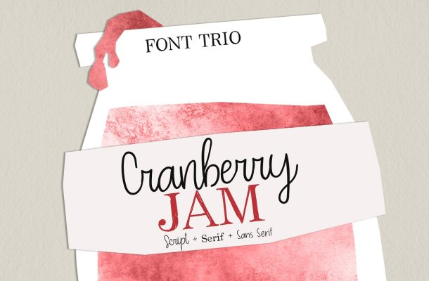 Cranberry Jam Font