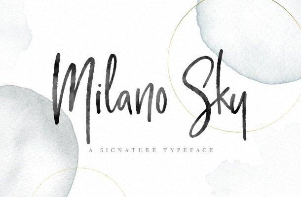 Milano Sky Script Font