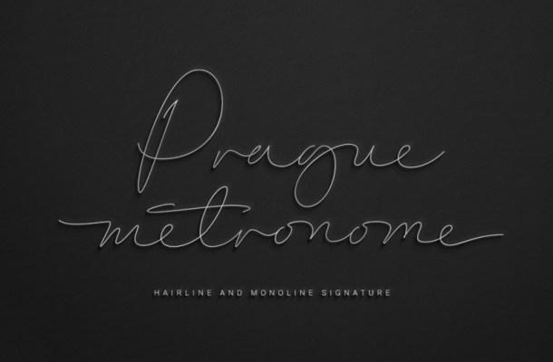 Prague Metronome Signature Font