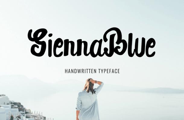SiennaBlue Script Font